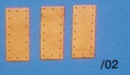 Kupferbeschlag 8 x 18 mm, 100 Stück