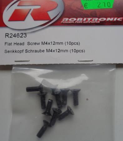 Senkkopf-Schrauben M 4 x 12 mm, 10 Stück
