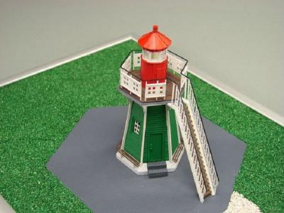 Leuchtturm Bunthäuser Spitze Laser Kartonbausatz