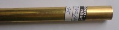 Messingrohr 14,0/12,1 mm, Länge 1 m, 1 Stück