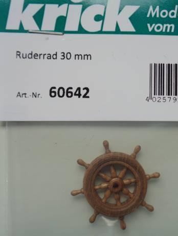 Ruderrad 30 mm  - Holz -