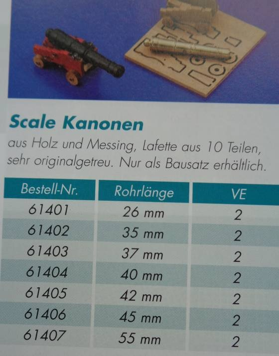 Scale Kanone 37 mm (2 Stck)