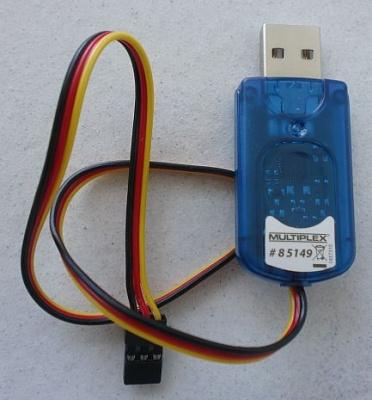 USB PC-Kabel RX+S+Telemetrie+Wingstabi
