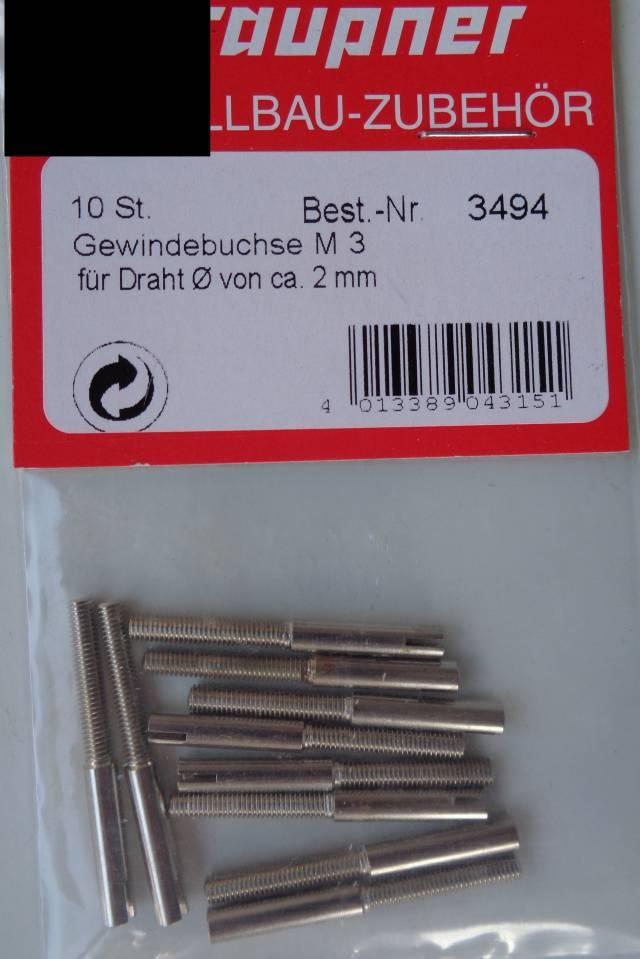 Gewindebuchse M3/2mm, 10 Stück