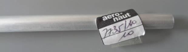 Alu-Rohr, halbhart nahtlos, außen 10 mm, innen 9,1 mm,1m lg.