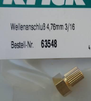 Wellenanschluß 4,76mm, 3/16