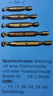 Spannschrauben (Messing) Ö/H 20 mm, 5 Stück