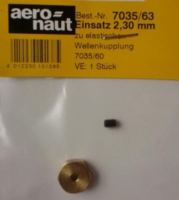 Sechskant-Welleneinsatz, Ø 2,30 mm, 1 Stück