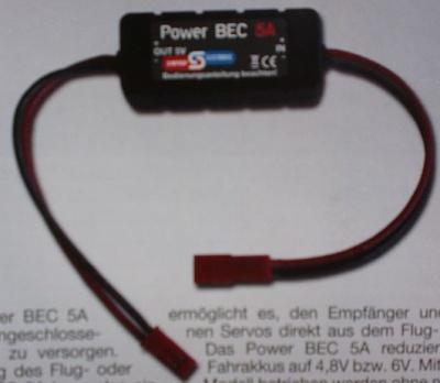 Power BEC 5 A, Ausgangsspannung  4,8V