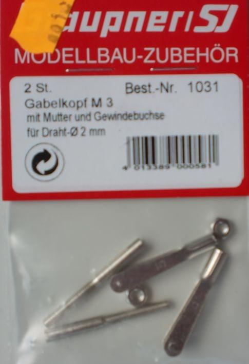 Gabelkopf-Satz M 3,  2 Stück
