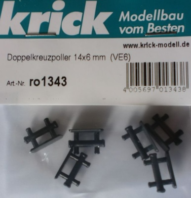 Doppelkreuzpoller 14 x 6 mm, 6 Stück
