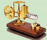 Mini-Stirlingmotor, vergoldet, montiert  -Heizluftmotor -