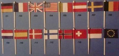 FLAGGE FRANKREICH  (Seide), beidseitig bedruckt