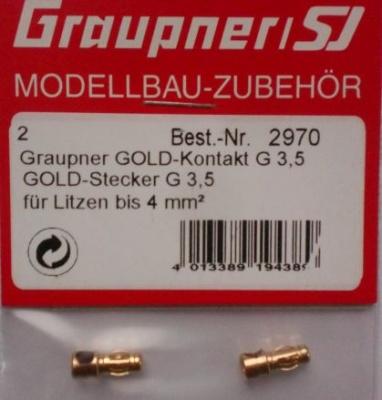 G3,5-Stecker vergoldet (2 Stück)