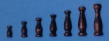 Geländerstützen (Holz) dunkel, 6 mm hoch, 10 Stück