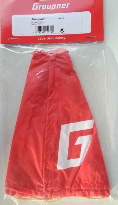 Seil-Fallschirm,  Länge 17 cm