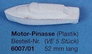 Motor-Pinasse 52 mm lang, grau, 5 Stück
