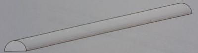 5 Stück Plastik-Profil, halbrund, Ø 4 mm, 1 m lg.