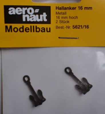 Hallanker 16mm, 2 Stück