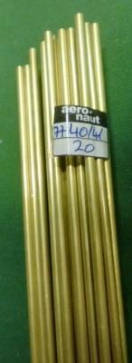 Messingrohr  4.0/3,1 mm, Länge 1 m, 1 Stück