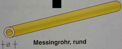 Messingrohr  6.0 / 5.1mm, Länge 1 m, 1 Stück