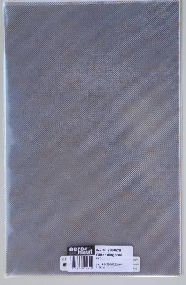 Gitter-Blech aus Kunststoff, PVC, Gitter diagonal, 1 Stück