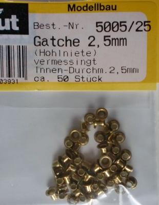 Gatche/Bullaugen, Ø äußerer Rand 4 mm, Länge 3 mm, 50 Stück