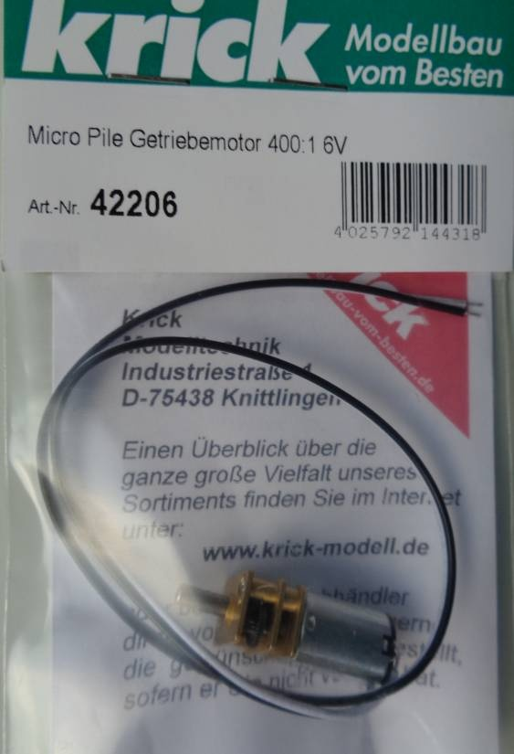 Micro Pile Getriebemotor 400:1 6V  - Neu -