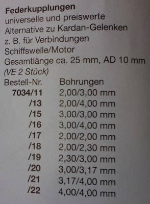 Federkuppl.2,30/2,00mm, 2 Stück