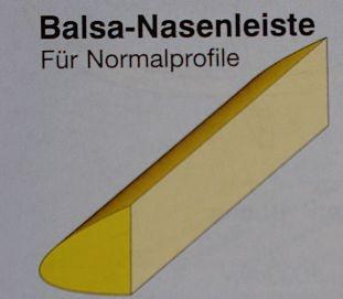 Balsa-Nasenleisten 13x20/1000mm,  4 Stück