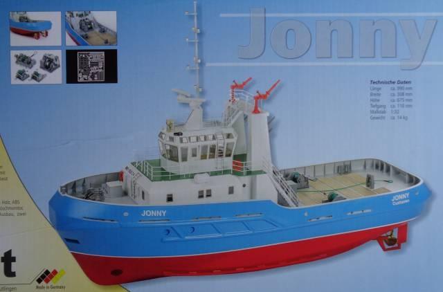 Jonny Hafenschlepper - Länge 99 cm - m. GFK-Rumpf