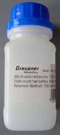Weithalstankflasche100 ml,  Vierkant