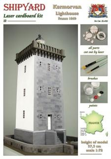 Leuchtturm Kermorvan Laser Kartonbausatz