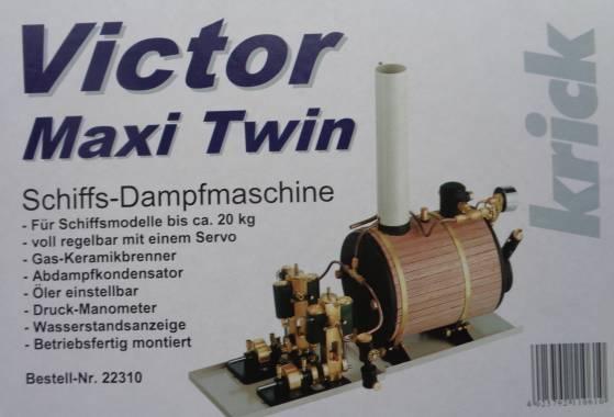 Dampfmaschine Victor Maxi Twin -siehe mehrere Fotos -