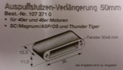 Auspuffstutzen-Verlängerung 50 mm