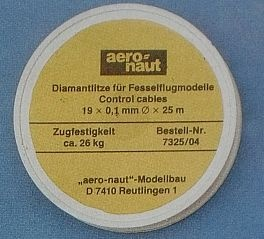 DIAMANTLITZE 0,4 mm,  Ø 19 x 0,1 mm, Spule mit 25 m