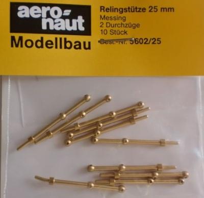 Relingstütze 2D/25mm,   Ø 1.5 mm