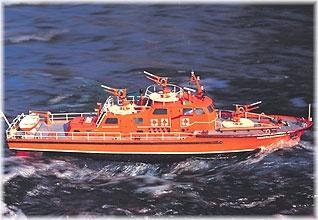 Düsseldorf  Feuerlöschboot,   Baukasten, Länge 116 cm