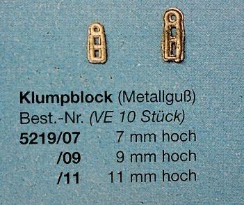 Klumpblock  7 mm hoch