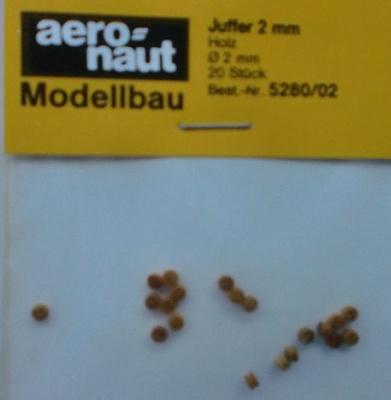 Juffern, Holz, hell,  2,5 mm, 20 Stück