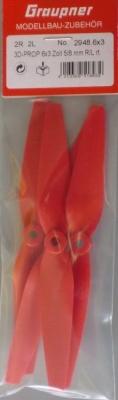 Luftschraube 3D-PROP 6x3 Zoll 5/8 mm, rot