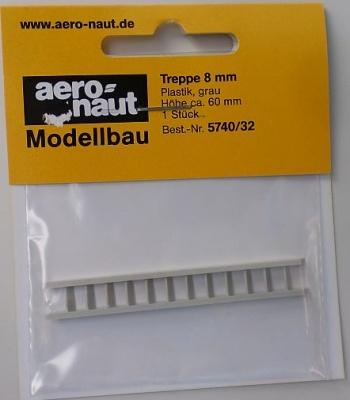 Treppe grau 8 mm breit, 60 mm lang, 1 Stück