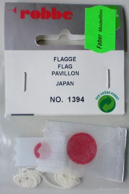 Flagge Japan   2Stk.,  ( 1 x42 x 27 mm, 1 x 35 x 15 mm)