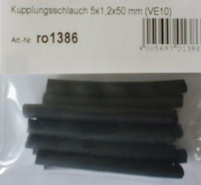 Kupplungsschlauch 5 x 1,2 x 50 mm, 10 Stück
