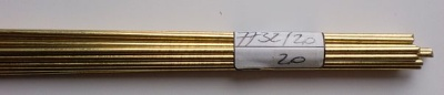 Messingdraht  2 mm,  1 m lang, 1 Stück