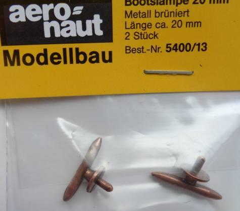 Bootsklampen, Metall brüniert 20 mm lang, 2 Stück