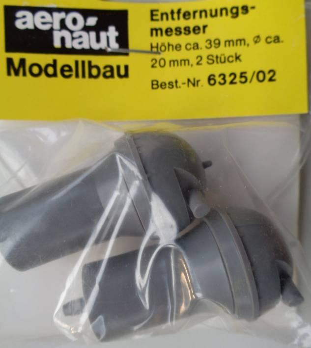 Entfernungsmesser (Plastik) Ø 20 mm, 39 mm hoch, 2 Stück