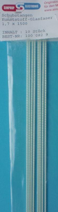 GFK-Schubstange Kunstst. glasf. 1,50 m lang, ohne Gabelkopf