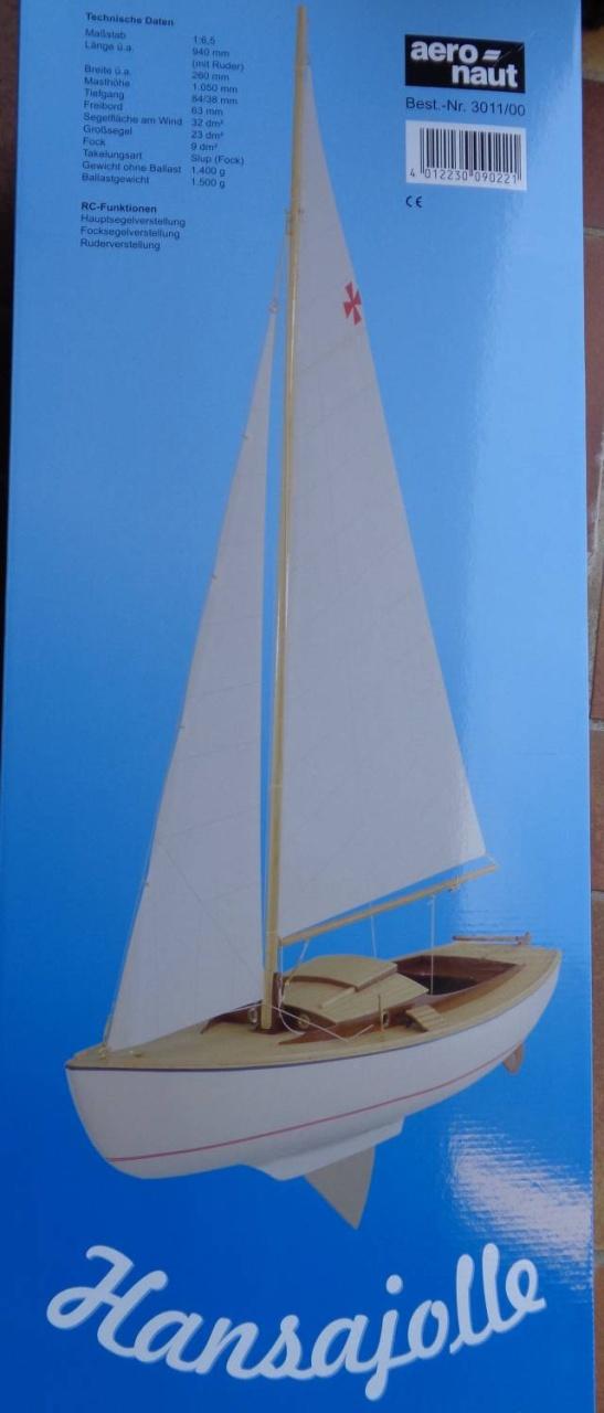 Hansajolle Segelboot (Länge 94 cm) - siehe mehrere Fotos -