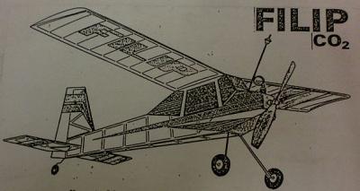 Fertigmodell FLIP m. Modela CO²-Motor